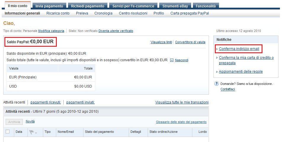 Amazon ricarica carta paypal