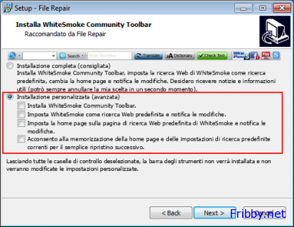 file repair installazione toolbar whitesmoke