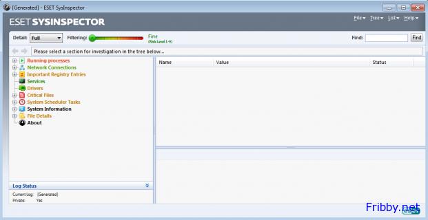 ESET SysInspector schermata principale
