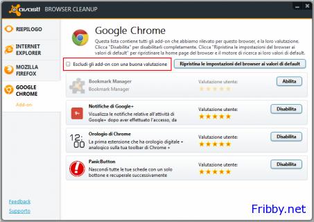 avast browser cleanup altri componenti da poter eliminare