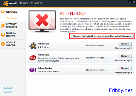 avast browser cleanup avvio