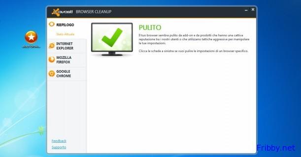 avast browser cleanup sistema pulito