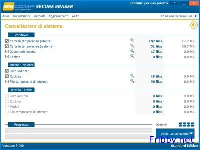 Secure Eraser cancellazione di sistema